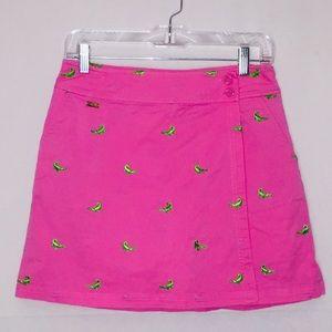 Lilly Pulitzer Hot Pink Alligator Skort Size 2